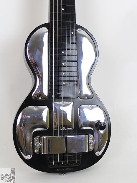rickenbacker b6 lap steel 1937 black chrome reverb. Black Bedroom Furniture Sets. Home Design Ideas