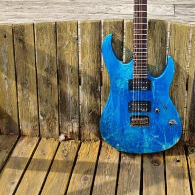 Spear Gladius T Guitar  Mid 2000's Iced Blue Artic Finish for sale