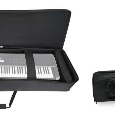 Rockville 88 Key Padded Rigid Durable Keyboard Gig Bag Case For Korg Kross 2 88