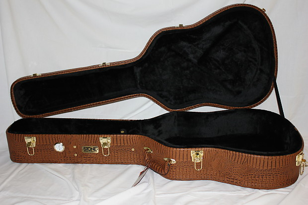 cc01b00b5fa Description; Shop Policies. Stone Case Deluxe Alligator Archtop Hardshell  Dreadnought Guitar Case with ...