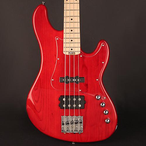 Cort GB74JHTR 4 String, JH Pickups, Trans Red, 2 Band EQ w/   Reverb