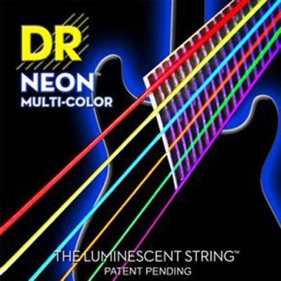 DR Strings NEON Multi-Color H-Def NMCE-10 10-46 - 6 Different Colors one pack!