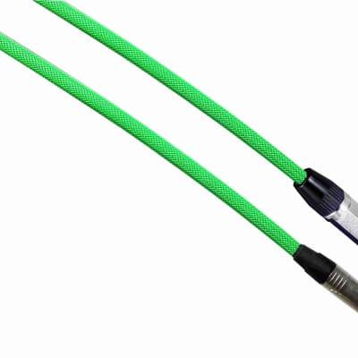 "NEON GREEN Designer Series Guitar Cables - 1/4"" Straight to Right Angle - 30 ft. / STRAIGHT to RIGHT ANGLE"