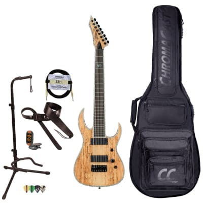 BC Rich Guitars Shredzilla Extreme 8-String Electric Guitar with Hipshot, Case, Strap, and Stand, Spalted Maple for sale