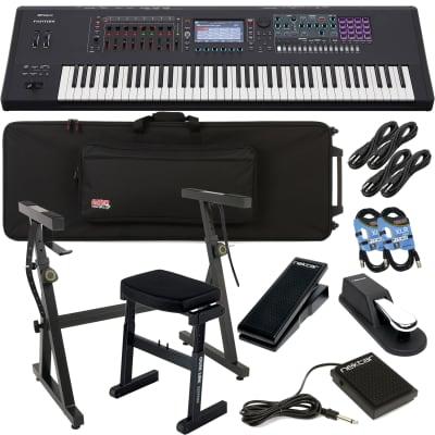 Roland FANTOM 7 Workstation Keyboard, Gator GK76 Case, Plixio Stand, Quik-Lok BZ-7, Sustain Pedal, Nektar NX-P, Nektar NP1, (4) 1/4 Cables, (2) XLR Cables Bundle