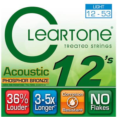 Cleartone Phospher Bronze Light Acoustic Strings 12-53