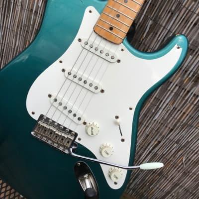 Fender American Vintage 57 Reissue Stratocaster 1989 Ocean Turquoise Herbie Gastelum Neck for sale