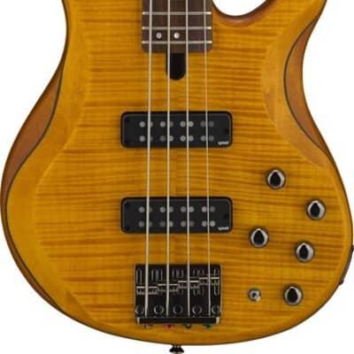 Yamaha TRBX604FM Electric Bass Guitar - Matte Amber
