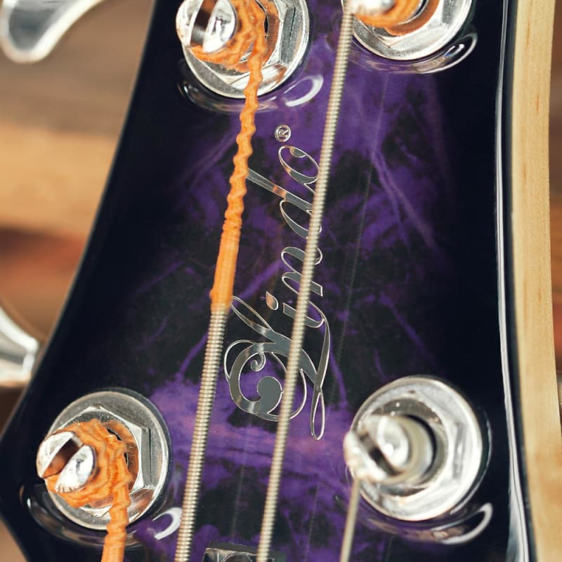 Lindo Left Handed PDB 5-String Purple Dove Electric Bass Guitar and Hard Case