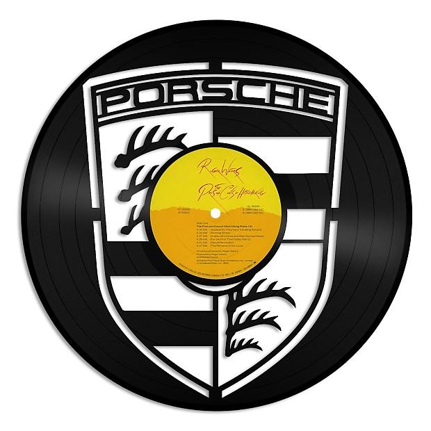 Porsche emblem Vinyl Wall Art - Gold / Framed | VINYLSHOPUS | Reverb