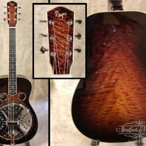 Rayco Resonophic guitar 2017 3-Tone Burst Flame Maple for sale