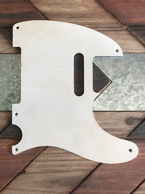 Real Life Relics Tele Telecaster Pickguard 1 Ply 5 Hole White Reverb