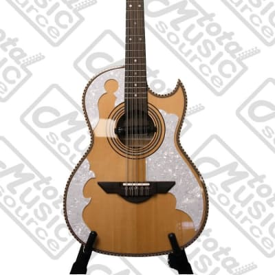 H. Jimenez Bajo Quinto (El Patro'n)  solid spruce top with gig bag - FULL body - Three Micas - with  Seymour Duncan pickup, LBQ4E for sale