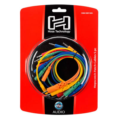 Hosa CMM-500Y-MIX Hopscotch Patch Cables (5-pack)