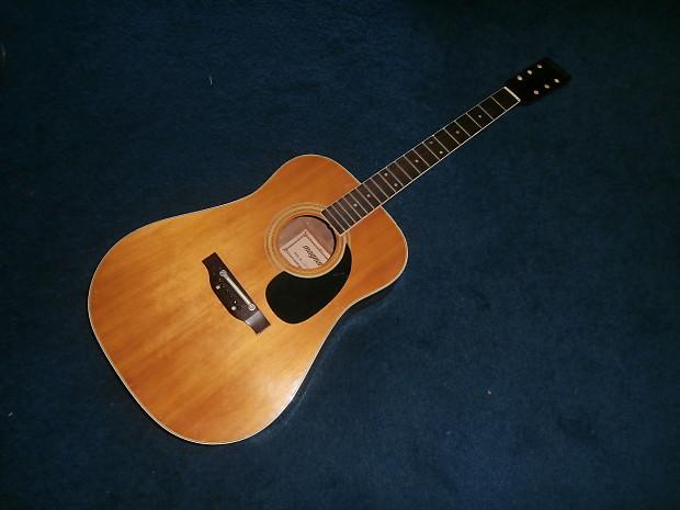 vintage 1980 39 s magnum acoustic guitar project reverb. Black Bedroom Furniture Sets. Home Design Ideas