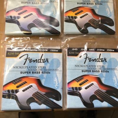 THREE PACKS of 5 String Fender Store Demo 8250 5M Super Bass Strings .045, .065, .085, .110tw, 130tw
