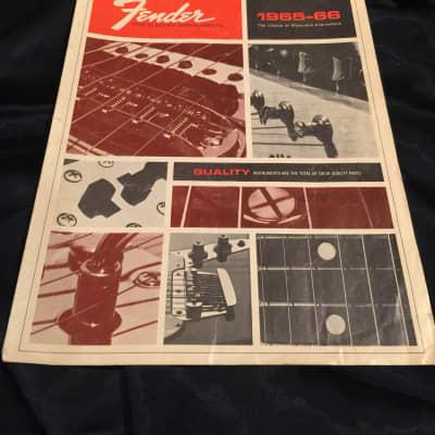 Fender  1965-66 catalog