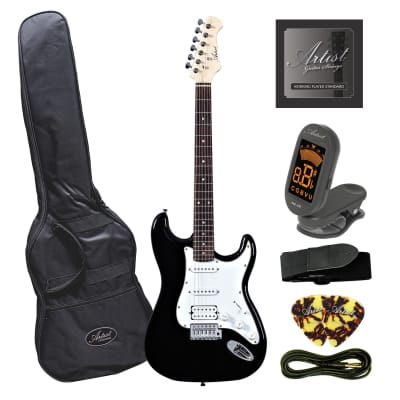Artist STH Black Electric Guitar with Humbucker for sale