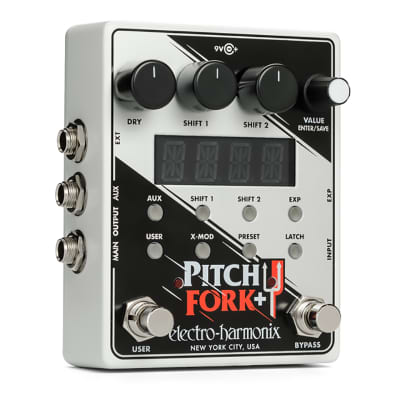 EHX Electro Harmonix Pitch Fork + Plus Dual Pitch Shifter Guitar Effects Pedal