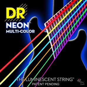 DR NMCE-10 NEON Multi-Colored Electric Guitar Strings - Medium (10-46)