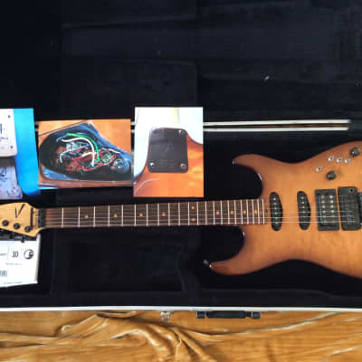 Tom Anderson Guitarworks Grand Am Strat Rare 1988 Quilted Maple Tobacco Burst,Floyd Rose,Case,VG Con for sale