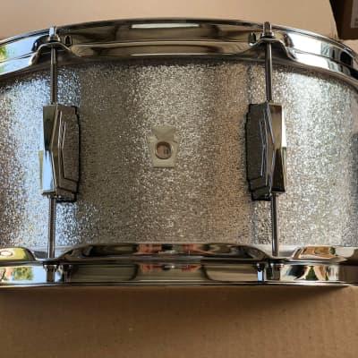 "Ludwig 6.5"" x 14"" Club Date Maple/Poplar Snare Drum Silver Mist Sparkle"