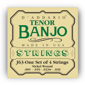 D'Addario J63 Nickel Wound Tenor Banjo Strings 9-30