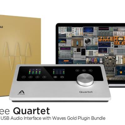 Apogee Quartet iOS Desktop Audio Interface and Control Center with Waves Gold Plugin Bundle for iPad & Mac
