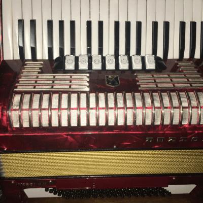 Hohner Verdi lll N Accordion 37/96 LMM 1990 Red Pearl