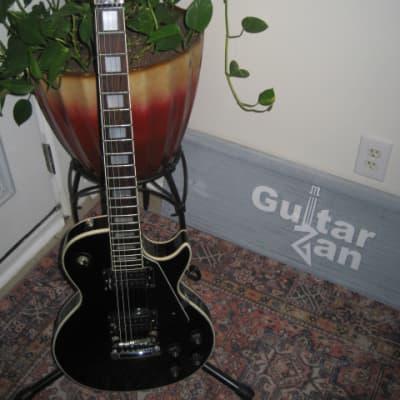 Vintage Cortez LP-22/C~Japan~Single Cut Custom Style Guitar~Black~Big Block Inlay~70's~MIJ~w/Gig Bag for sale