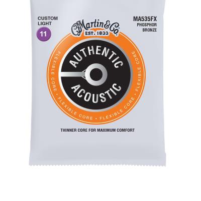 Martin Authentic Acoustic Flexible Core, Phosphor Bronze; Custom Light MA535FX