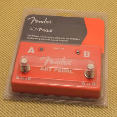 023-4506-000 Fender Full Size ABY Footswitch Foot Switch Pedal for Guitar/Bass
