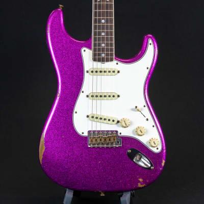 Fender Custom Shop LTD 1967 Stratocaster Magenta Sparkle 4250 (#537013) for sale