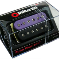DIMARZIO DP100 Super Distortion Humbucker Pickup BLACK/WHITE, | Reverb