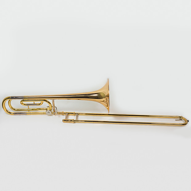 yamaha trombone. yamaha ysl-448g intermediate tenor trombone w/ f-rotor