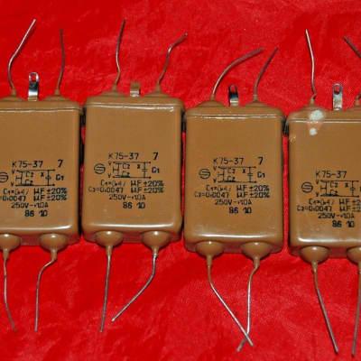 K75-37 PIO Capacitors 10 pcs.   0,47 /  0,0047uF 250v