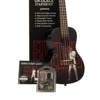 Kala Elvis Viva Las Vegas Learn To Play Concert Ukulele Kit, KALA-LTP-C-ELV for sale