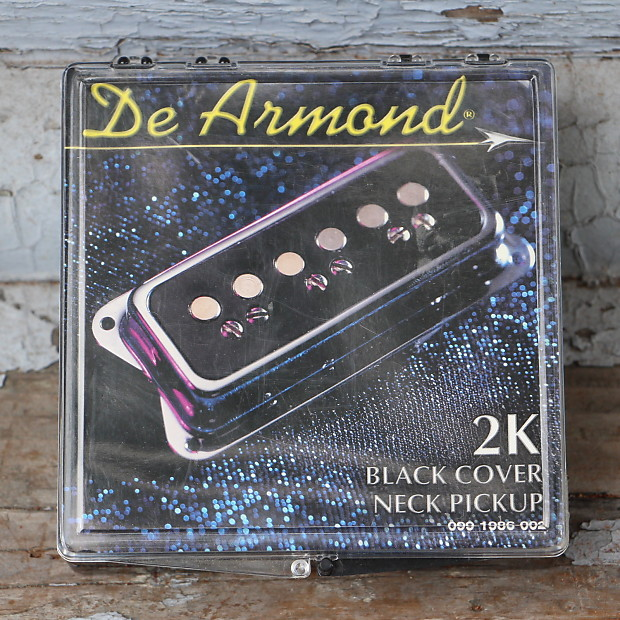 DeArmond USA 2K Dynasonic Neck Pickup Black | Real Guitars on