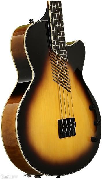washburn vintage sunburst acoustic electric bass guitar reverb. Black Bedroom Furniture Sets. Home Design Ideas