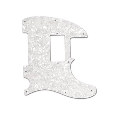 Telecaster Pickguard 1H , 8 Hole White Pearloid  for USA Tele
