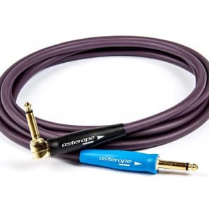 """Asterope AST-P10-RSG Pro Studio 1/4"""" TS Straight to Right-Angle Instrument Cable - 10'"""