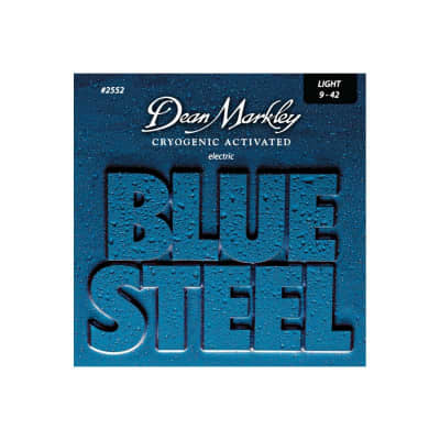 Dean Markley DM-2552-LT blue steel 09-42 muta per chitarra elettrica for sale