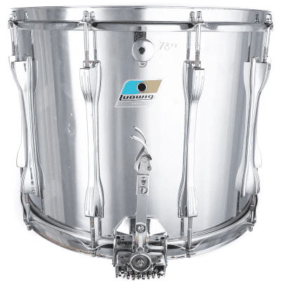 """Ludwig 12x15"""" Stainless Steel 10-Lug Super Sensitive Snare Drum with Parallel Snare System"""