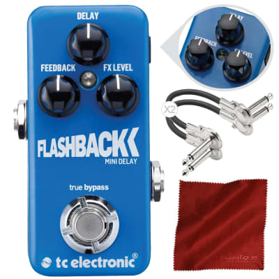 TC Electronic Flashback Mini Delay Mini Guitar Effects Pedal with TonePrint and Accessory Bundle