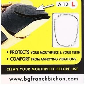 BG A12L Transparent Saxophone Mouthpiece Patch - Large 0.9mm (6-Pack)