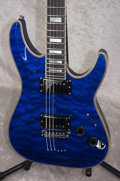 schecter c 1 custom electric guitar in trans midnight blue reverb. Black Bedroom Furniture Sets. Home Design Ideas