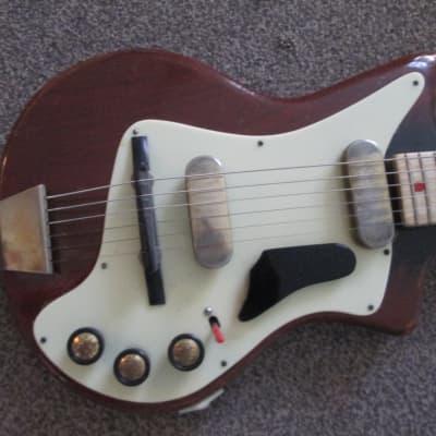 Fenton Weill electric guitar c.1959 dark red for sale