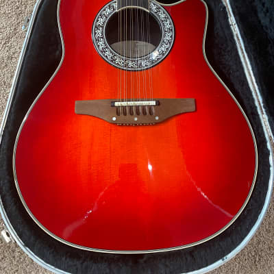 Ovation 1866 Legend 12 String 1998 Cherry Burst - Near MINT!