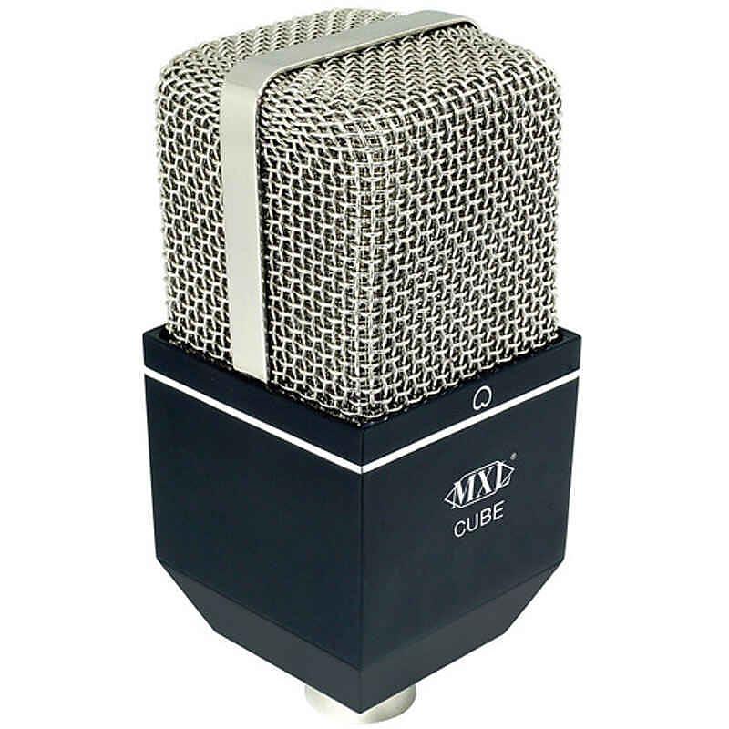 mxl cube drum condenser microphone black with chrome grille reverb. Black Bedroom Furniture Sets. Home Design Ideas