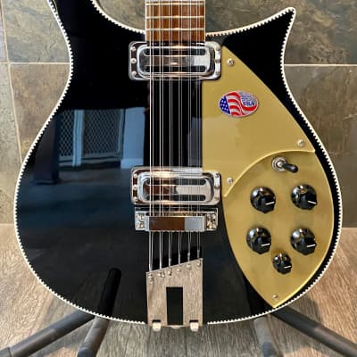 Rare Awesome Gorgeous 2021 Rickenbacker 660-12 in Jetglo OHSC (489)
